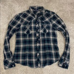 GAP green plaid shirt